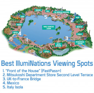 2015 Disney World Epcot Map