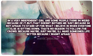 quotes about girls being independent