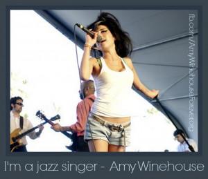 jazz singer - #amywinehouse
