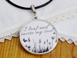 Walt Whitman Leaves of Grass Poetry Quote Necklace