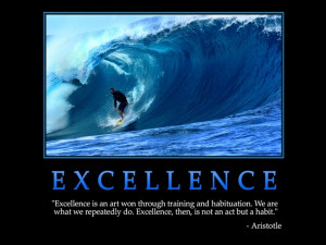excellence excellence is an art won through training and habituation ...