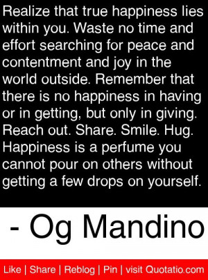 ... getting a few drops on yourself og mandino # quotes # quotations