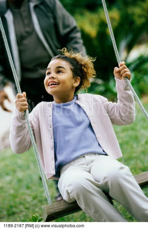 Swinging On A Swing Quotes Close-up of a girl swinging on