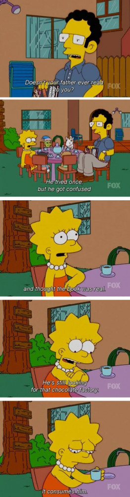 My favorite Simpsons quote…