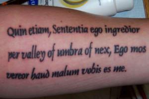 Latin Bible Phrase