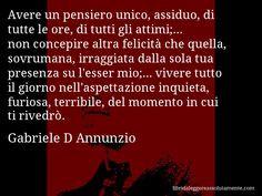 Cartolina con aforisma di Gabriele D Annunzio (38) More