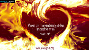 ... Can Say I Have Made My Heart Clean I am Pure From My Sin - Bible Quote