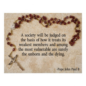 Pope John Paul II Quote Print