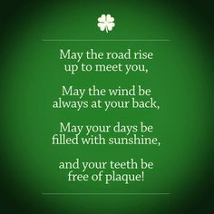 ... of plaque! Happy St Patricks Day! http://www.stephensdentistry.com