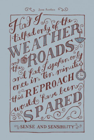 Jane Austen Covers: Sense and Sensibility Art Print