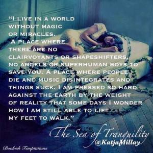 ... sobre Sea of Tranquility, logo o primeiro quote tinha que ser dele