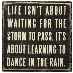 Life isn't about waiting for the storm to pass. It's about learning to ...