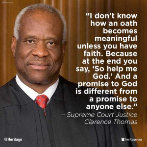 Supreme Court Justice Clarence Thomas: 'I don't know how an oath ...