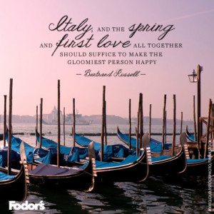 Travel Quote of the Week: On La Dolce Vita
