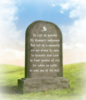 Epitaph Memorial Verse for a Father