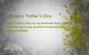 Happy Father's Day To My Beloved Dad, Whom I Proudly Say Is My ...