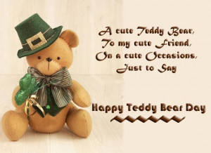 Cute Happy Teddy Day 2015 quotes with teddy