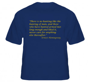 NYPD Warrant Squad Hemingway Quote T Shirt