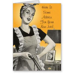 Retro Funmy Advice Congratulations New Job Card