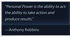 Tony Robbins Personal Power II quote