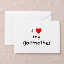 love my godmother Greeting Cards (Pk of 10) for