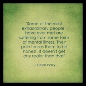 Invisible pain quote ~ Helen Perry