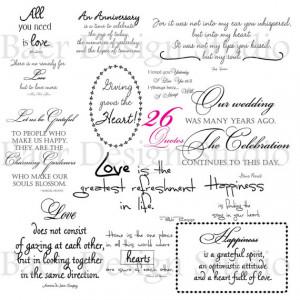 LOVE QUOTES digital word art for weddings, anniversaries, Valentine's ...