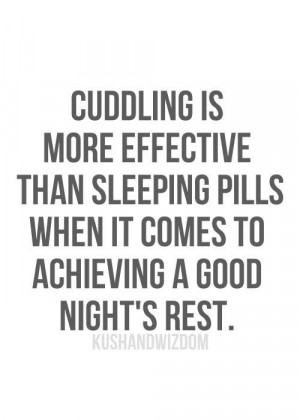 Cuddling is more effective than sleeping pills when it comes to ...