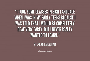 Sign Language Quotes