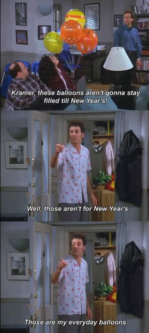 Jerry Seinfeld Jokes About Birthday Baloons
