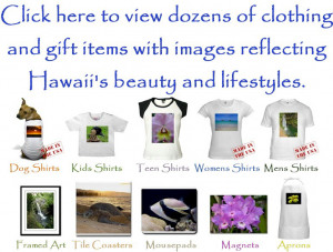 ... with OUR OWN CUSTOM images reflecting Hawaii's beauty and lifestyles