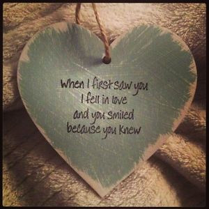 ... about Shabby Chic Wooden Heart, Sign, Quote, Personalised Love Quote