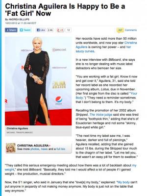 How Christina Aguilera's Fake