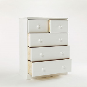 One Range 2 over 3 All Deep Drawer Wide Chest Painted Brilliant