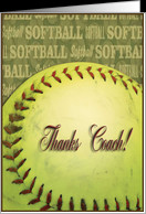 Thanks Coach Softball Card