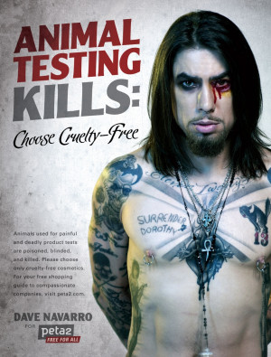 Dave Navarro Is Cruelty-Free