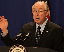 Ken Salazar is resigning from his cabinet position Picture from