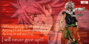Natsu's quote~Fairy Tail by evitacarla