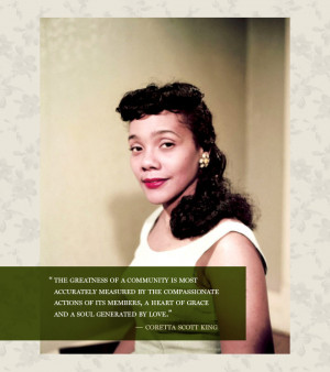 Coretta Scott King Quotes About Her Husband To play coretta scott king