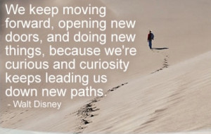 down new paths new beginning picture quote