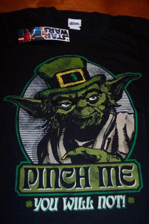 FUNNY STAR WARS IRISH YODA T-Shirt SMALL NEW w/ TAG - 1