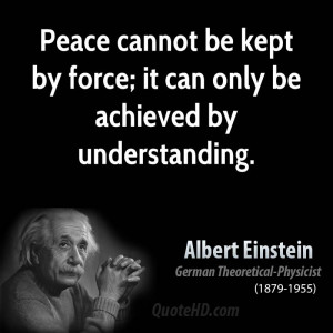 Albert Einstein Peace Quotes