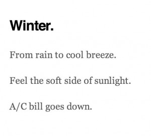 haiku # quotes # humor # winter