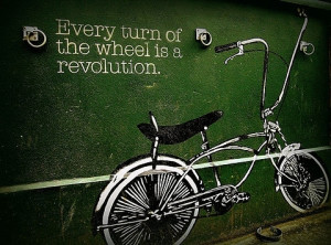 bicycle, bike, message, quote, words