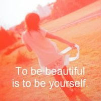 lonely girl quotes photo: be yourself be beautiful photography girl ...