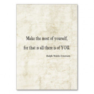 Vintage Emerson Inspirational Quote Business Card Template