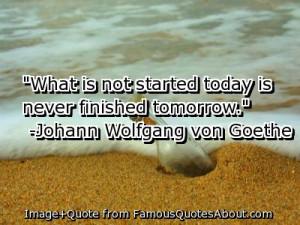 Johan Wolfgang von Goethe Dream Quote