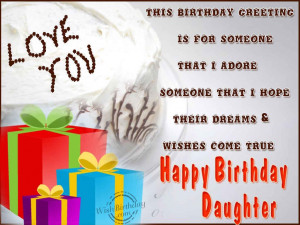 Happy Birthday To My Daughter Quotes Happy birthday daughter