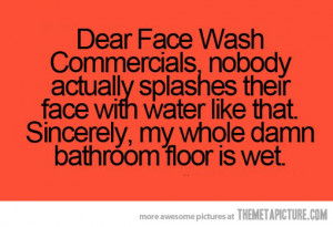 Funny photos funny quote face wash commercials