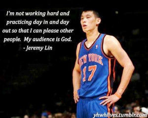 Thread: Jeremy Lin Quote: Working Hard